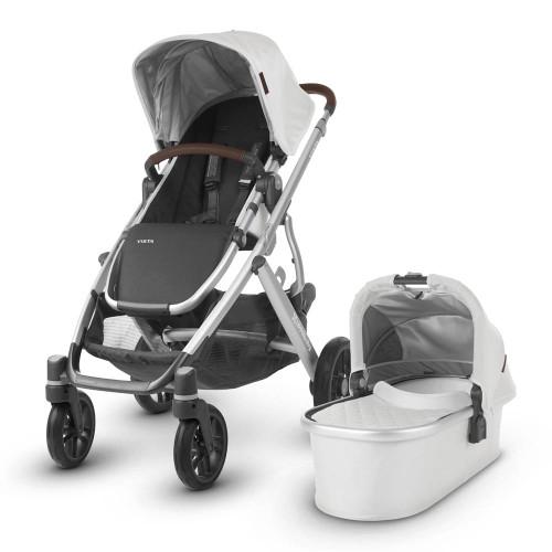 UPPAbaby Vista 2019 Stroller - Bryce (White Marl/Chestnut Leather)