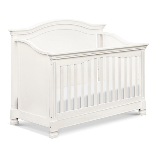 Million Dollar Baby Louis 4-in-1 Convertible Crib with Toddler Bed Conversion Kit - Warm White