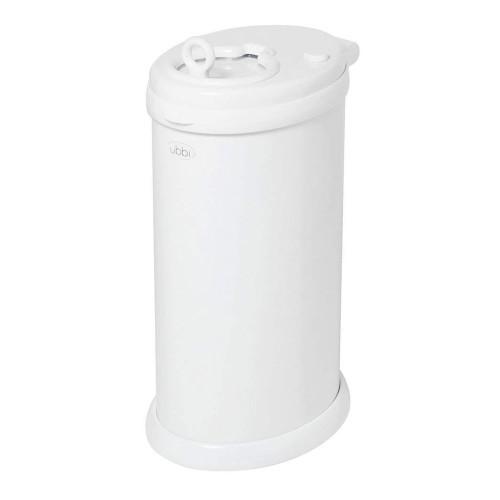 UBBI Stainless Steel Diaper Pail - White