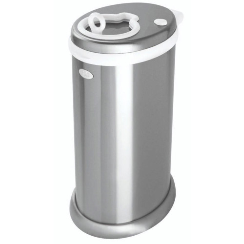 UBBI Deluxe Edition Metallic Stainless Steel Diaper Pail - Chrome