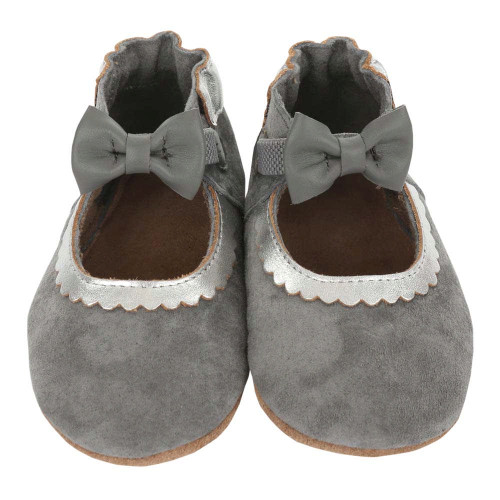 Robeez Soft Soles Slippers - Keeping it Classy (12-18 Months)