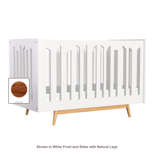 Dutailier Lollipop 4-in-1 Convertible Crib - Walnut Front and Legs