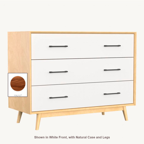 Dutailier Lollipop 3-Drawer Dresser - Walnut Case and Legs