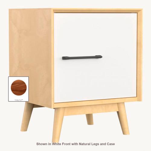 Duatilier Lollipop Night Table - Walnut Case and Legs