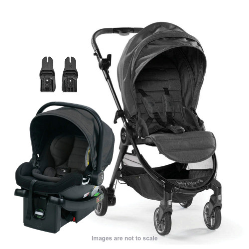 Baby Jogger City Tour Lux and City Go Combo Travel System - Granite & Charcoal