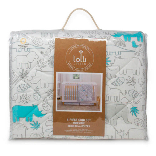 Lolli Living 4-Piece Crib Bedding Set - Safari Collection