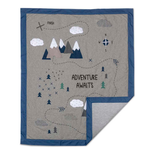 Lolli Living Peaks Collection Baby Quilt - Peaks