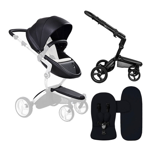 Mima Xari Stroller Combo - Black Seat, Black Chassis, and Black Starter Pack