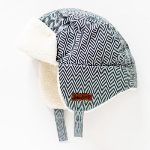 Juddlies Winter Hat - Herringbone Grey (0-6 Months)
