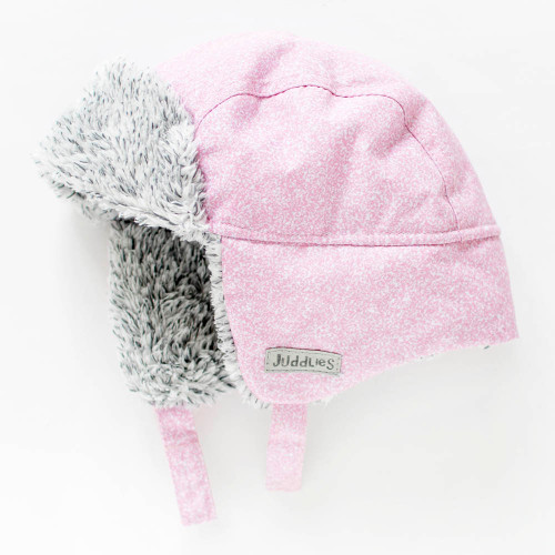 Juddlies Winter Hat - Salt&Pepper Pink (0-6 Months)