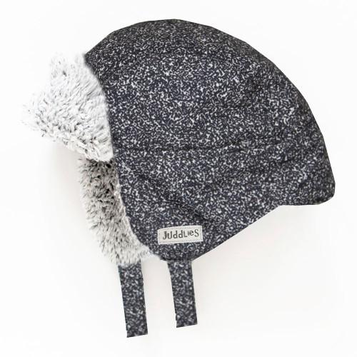 Juddlies Winter Hat - Salt&Pepper Black (0-6 Months)