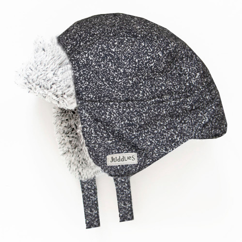 Juddlies Winter Hat - Salt&Pepper Black (6-12 Months)
