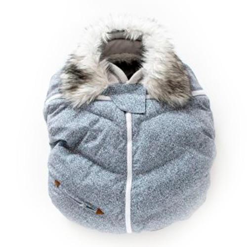 Juddlies Infant Car Seat Cover - Salt & Pepper Grey