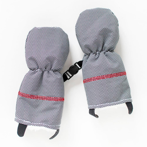 Juddlies Winter Mitts - Herringbone Grey (0-6 Months)