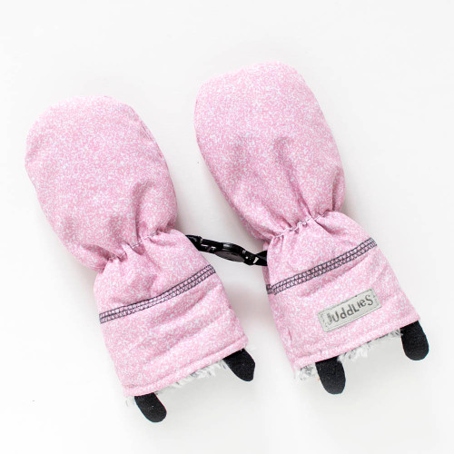 Juddlies Winter Mitts - Salt&Pepper Pink (0-6 Months)