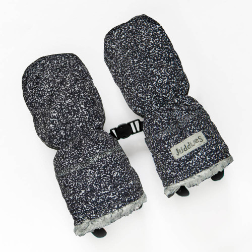 Juddlies Winter Mitts - Salt&Pepper Black (0-6 Months)