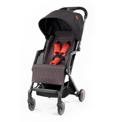 Diono Traverze Super Compact Stroller - Charcoal Copper Hive with Carbon Chassis