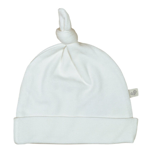 Perlimpinpin Bamboo Knotted Hat - Ivory (1-3 Months)