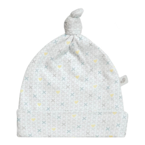Perlimpinpin Bamboo Knotted Hat - xHearts (1-3 Months)