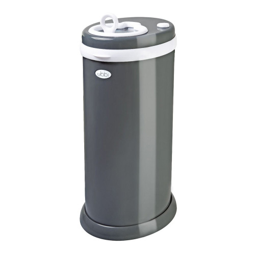 UBBI Stainless Steel Diaper Pail - Slate Grey