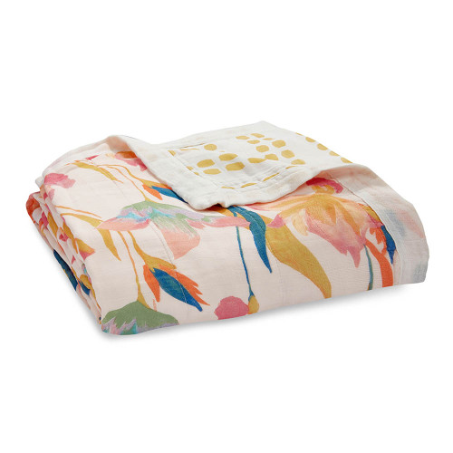 Aden + Anais Silky Soft Bamboo Dream Blanket - Marine Gardens