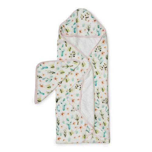 Lolou Lollipop Hooded Towel Set - Cactus Floral