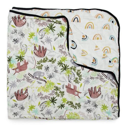 Loulou Lollipop Muslin Quilt Blanket - Sloth