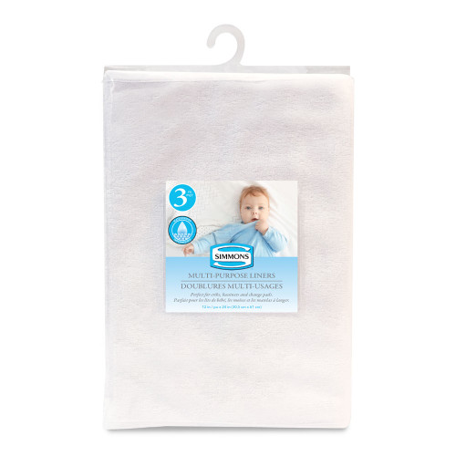 Simmons 3-Pack Multi-Purpose Waterproof Terrycloth Liners (12 inch x 24 inch)