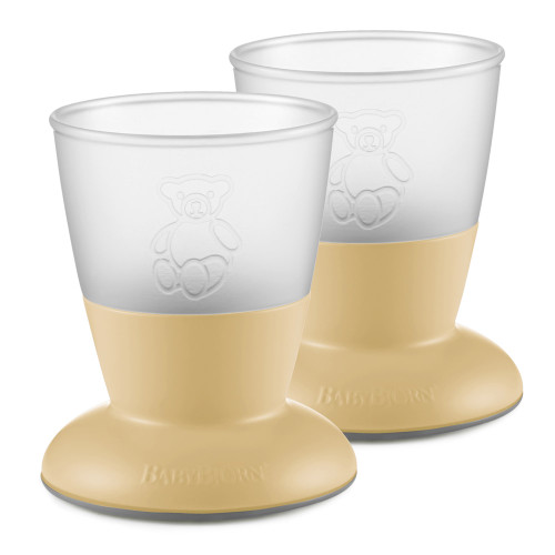 BabyBjorn Baby Cup 2-Pack - Powder Yellow