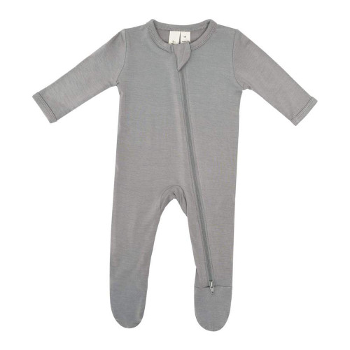 Kyte Bamboo Zippered Footie Sleeper - Chrome (12-18 Months, 22-25 lbs)