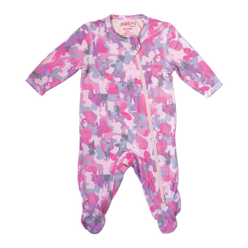 Juddlies Camoose Collection Bamboo Sleeper - Pink (Small, 3-6 Months)