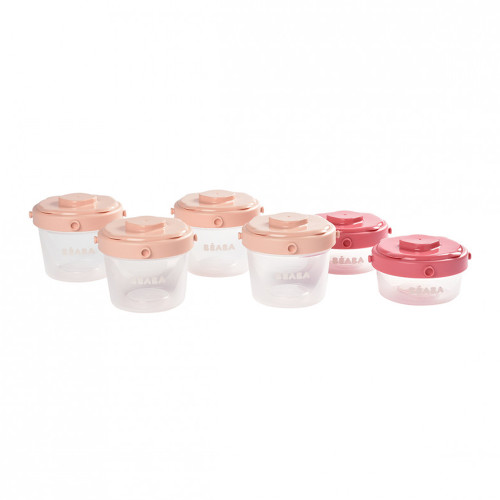Beaba Clip Container 6 Pack - Pink