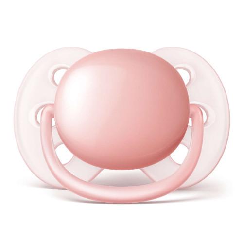 Avent Ultra Soft Pacifiers - Pink/Peach (0-6 Months)