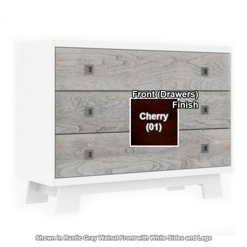 Dutailier Pomelo 3-Drawer Dresser - White/Cherry