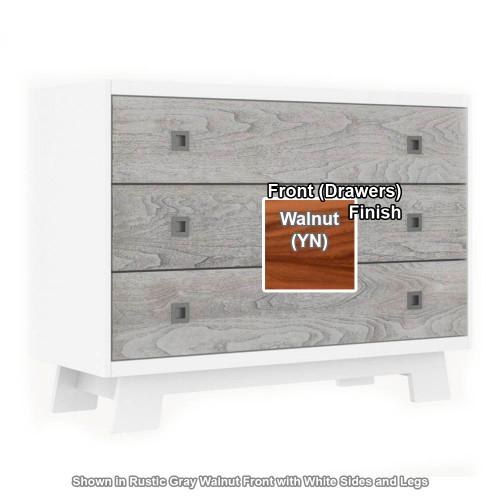 Dutailier Pomelo 3-Drawer Dresser - White/Walnut