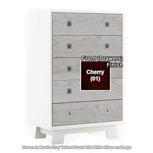 Dutailier Pomelo 5-Drawer Dresser - White/Cherry