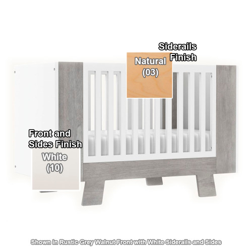 Dutailier Pomelo 3-in-1 Convertible Crib - White/Natural