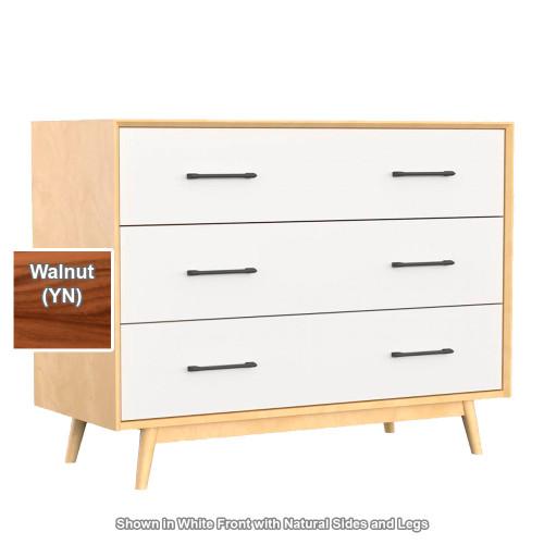Dutailier Lollipop 3-Drawer Dresser - Walnut Sides & Legs
