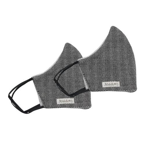 Juddlies 2-Pack Organic Cotton Reusable Adult Face Masks - Cottage Bear Black