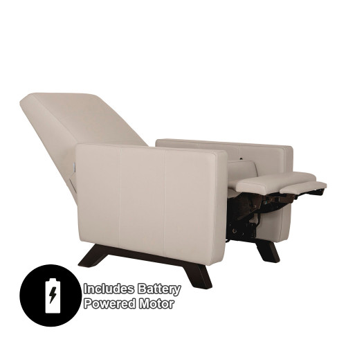 Dutailier Comfort Classico Glider with Integrated Footrest and Battery Powered Motor - All Leather Fabrics