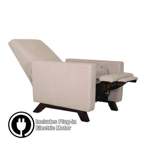 Dutailier Comfort Classico Glider with Integrated Footrest and Electric Powered Motor - All Leather Fabrics