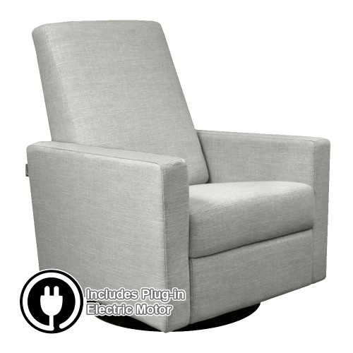 Dutailier Alsace Swivel Glider with Electric Powered Motor - All Leather Fabrics