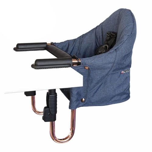 Guzzie + Guss Perch Hanging High Chair Gold Rose Edition - Copper Blue