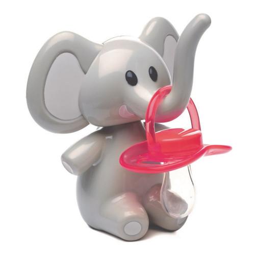 Melii Elii The Elephant Pacifier Holder - Grey Ears