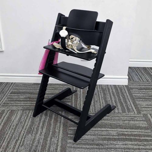 Stokke Tripp Trapp Oak High Chair with Baby Set - Black Oak (Open Box)