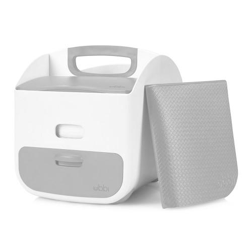 UBBI Diaper Caddy - White/Grey