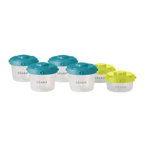 Beaba Clip Container 6 Pack - Peacock