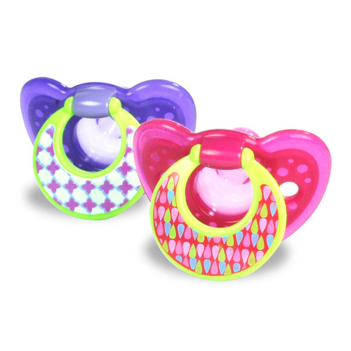 Learning Curve Gum Drops Pacifier With Ring Girl 6-18 Months