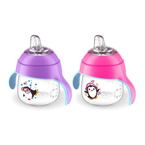 Avent Premium Penguin Cup 9oz Double-Pink and Purple
