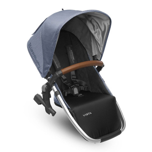 UPPABaby Vista RumbleSeat 2017 - Henry (Blue Marl with Silver Frame and Leather)